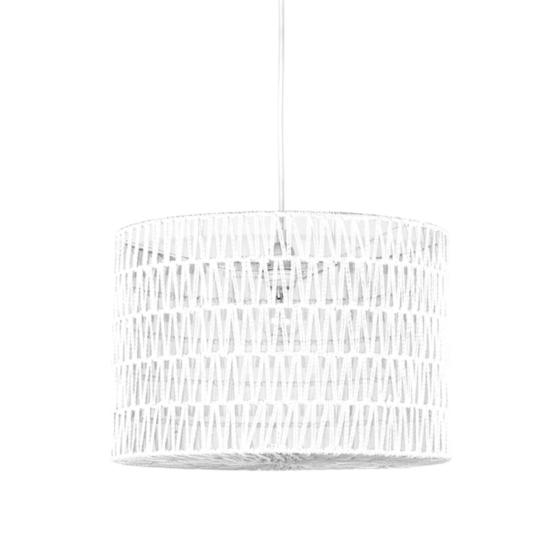 Hanglamp_Stripe_Wit_Katoen_45x45x30_cm
