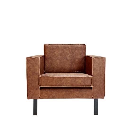 fauteuil_amsterdam_cognac_vooraanzicht